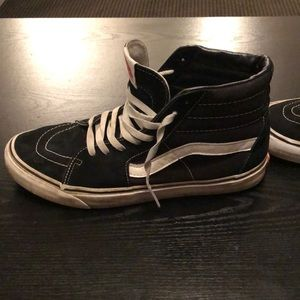 Vans Shoes - Vans hi tops black with white stripe